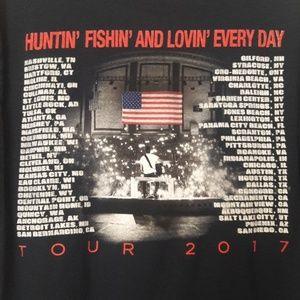 the concert tee Tops - Luke Bryan tour shirt